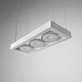 Lighting AQForm (Aquaform) CADRA 111x3 QRLED 230V suspended