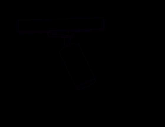 Poglądowy rysunek wymiarowy oprawy 12548
