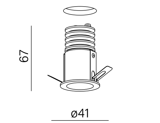 Dimensional drawing of the luminaire HL0013