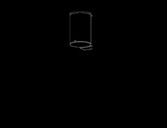 Poglądowy rysunek wymiarowy oprawy MG3412