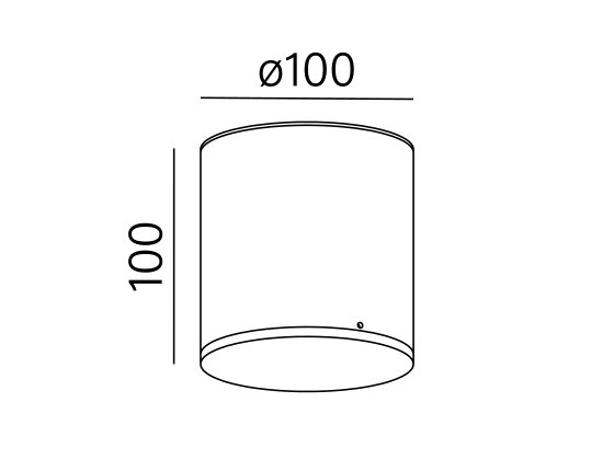 Dimensional drawing of the luminaire ON1014