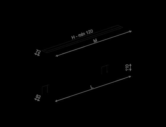 Dimensional drawing of the luminaire SA0013