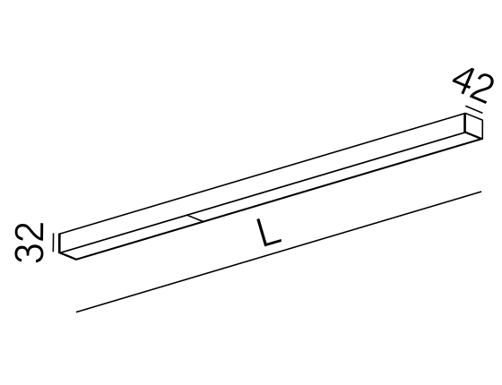 Dimensional drawing of the luminaire SR1014