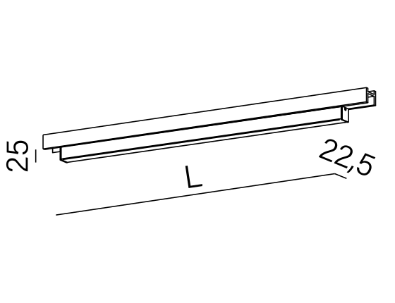 Dimensional drawing of the luminaire SR3017