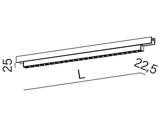 Dimensional drawing of the luminaire SR3117